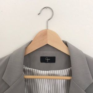 Aqua Bloomingdales brand small gray blazer jacket